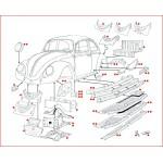 VW Kever plaatwerk koetswerk